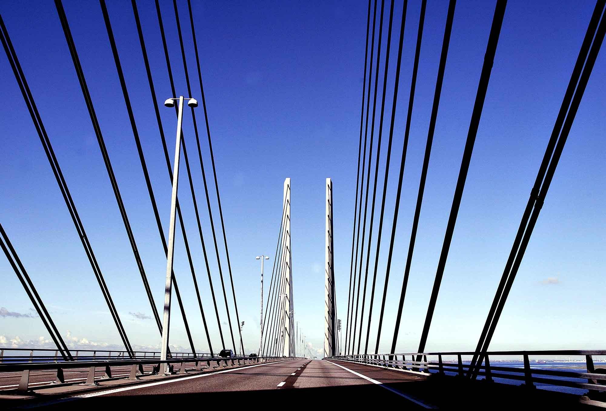 Øresundsbroen mod Danmark