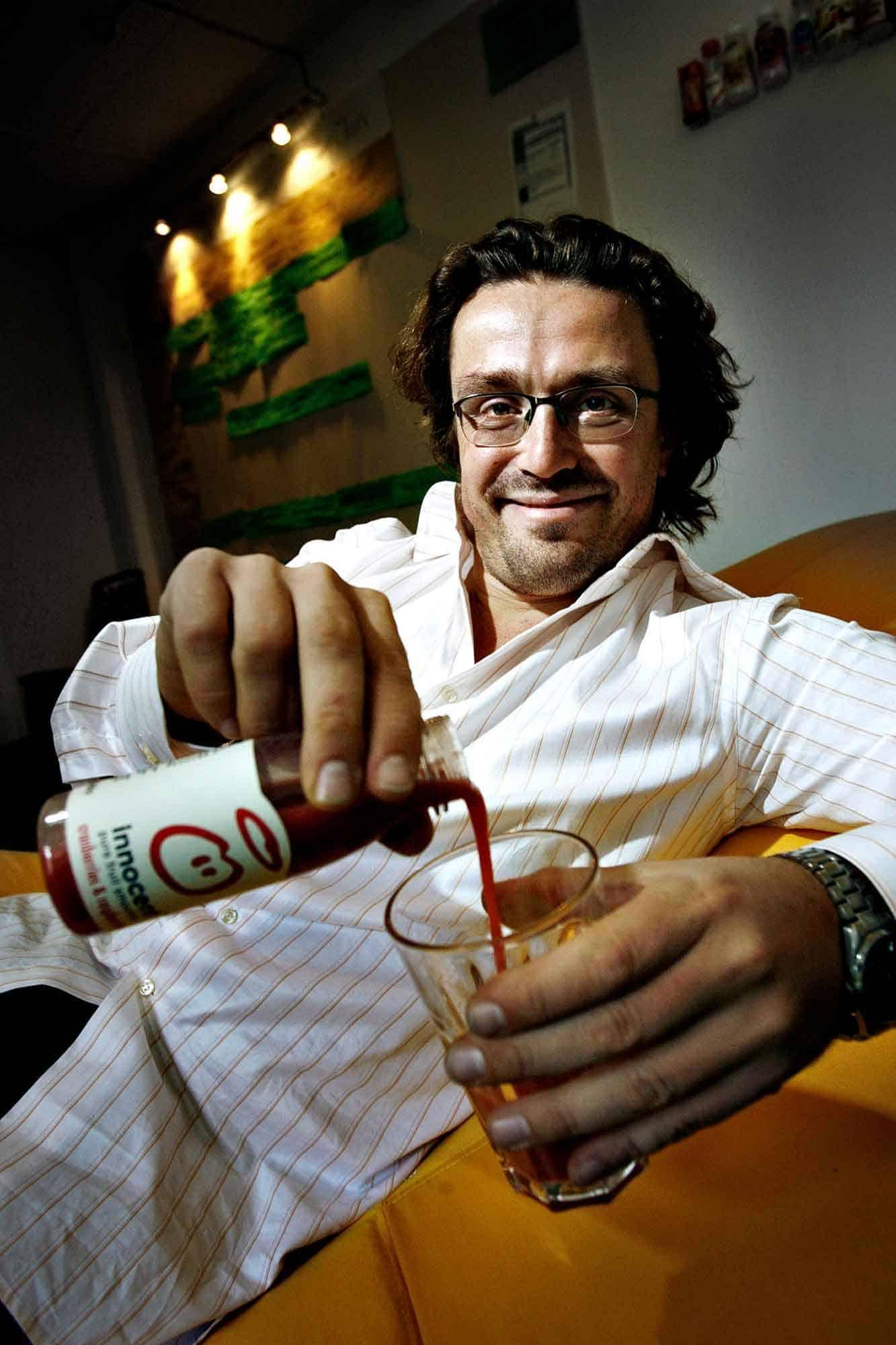 Adam Balon - grundlægger af Innoncent drinks.