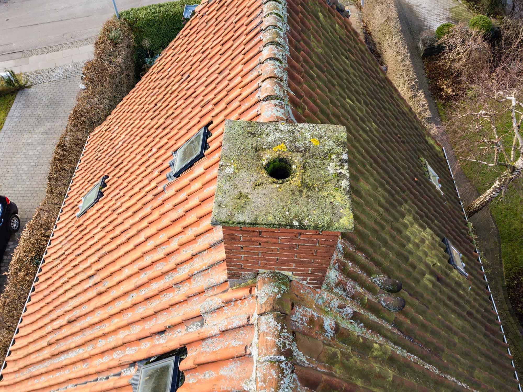 Droneinspektion af privat hus