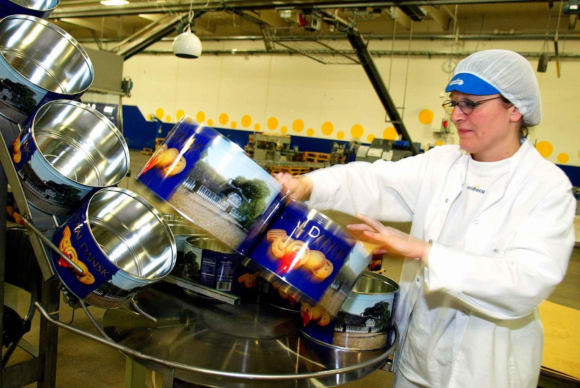 Kageproduktion fra kagefabrikken Bisca
