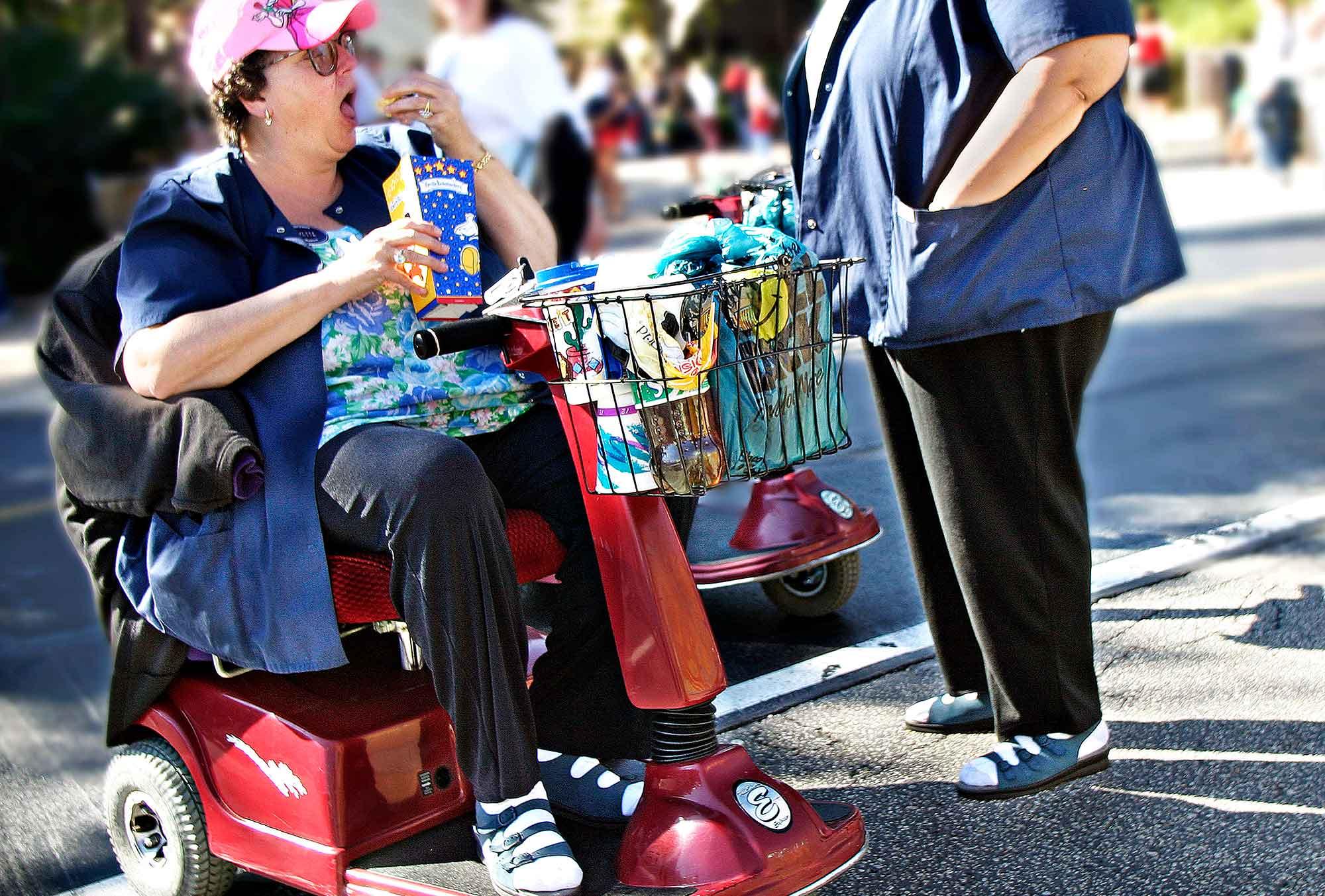 Overvægtige i Disneyland i Florida